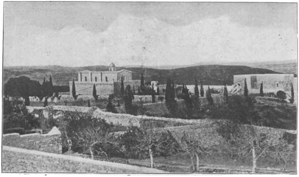 Общий вид греческого монастыря во имя Преображения Господня.