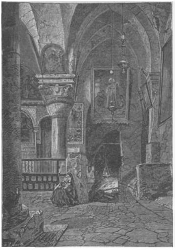 Часть храма св. Елены и спуск в пещеру Обретения Креста